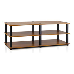 Furinno - Furinno 14038 TST 3-Tier Wide Shoe Rack, Light Cherry/Black - Furinno Turn-S-Tube (TST) No Tools Series multipurpose storage rack shelves comes in 2-3-4 Tiers and variety of width and depth. This series of products also includes difference sizes width, height and different fun colors. The storage shelf is designed to meet the demand of fits in space, fits on budget and yet durable and efficient furniture. It is proven to be the most popular RTA furniture due to its functionality, price, and the no hassle assembly. The DIY project in assemblying these products can be fun for kids and parents. There are no screws involved, thus it is totally safe to be a family project. Just turn the tube to connect the panels to form a storage shelf. The main material particle board is CARB compliant composite wood carrying the Forest Stewardship Council (FSC) certification and PVC Tubes. The particle board for furniture is processed from parts of rubber trees. There is no foul smell of chemicals, durable and it is the most stable among particleboard used to make RTA furniture. Care instructions: Wipe clean with clean damped cloth. Avoid using harsh chemicals. Pictures are for illustration purpose. All decor items are not included in this offer.