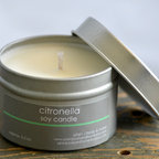 Citronella Soy Candle Tin, Lemony Fresh by Plain J Body and Home - Don't let the bugs get you down while trying to enjoy a relaxing evening outdoors. Light up a Citronella soy candle and watch them all disappear!