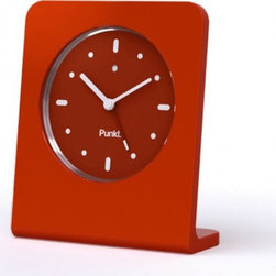 Punkt. - Punkt. AC 01 Alarm Clock - Red - Punkt. AC 01 offers you the pleasure of going back to the traditional alarm clock for everyday use. Why have your cell phone lying on your bedside table, when you can be woken up by a superb design object such as the AC 01? No fumbling around in the dark, no radiation emissions, and no unwanted calls in the middle of the night; just the pleasure of trusting your sleeping hours to a wonderfully simple object that, thanks to its extraordinary simplicity, will delight you every time you wake up to it. Designed by Jasper Morrison