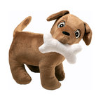 "Puppy Pal Boy - Stuffed Toy - Dog - Puppy Pal Stuffed Toy is the cutest puppy in town!  ""Rovy"" is the name of our Puppy is designed to match this entire collection and is the signature ""Puppy"".  Made in soft chocolate minky throughout.  Our ""Pal"" has a removable bone that you can take out or put back in his mouth.  Bone is secured in with Velcro.   This ""Pal"" makes a great little buddy for your child now and the years to come!"