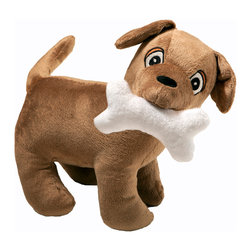 """Puppy Pal Boy - Stuffed Toy - Dog - Puppy Pal Stuffed Toy is the cutest puppy in town!  """"Rovy"""" is the name of our Puppy is designed to match this entire collection and is the signature """"Puppy"""".  Made in soft chocolate minky throughout.  Our """"Pal"""" has a removable bone that you can take out or put back in his mouth.  Bone is secured in with Velcro.   This """"Pal"""" makes a great little buddy for your child now and the years to come!"""