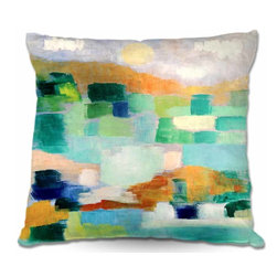 DiaNoche Designs - Pillow Woven Poplin - Under the Birds - Toss this decorative pillow on any bed, sofa or chair, and add personality to your chic and stylish decor. Lay your head against your new art and relax! Made of woven Poly-Poplin.  Includes a cushy supportive pillow insert, zipped inside. Dye Sublimation printing adheres the ink to the material for long life and durability. Double Sided Print, Machine Washable, Product may vary slightly from image.