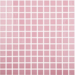 """Crayola - Recycled Glass Mosaics Pink Glossy 12.25"""" x 12.25"""" - The new  Recycled Collection consists of 36 solid colors in two finishes and nine special blends. Approved for both floor and wall use in commercial as well as residential applications, finished products from this new series (which contain 99% recycled glass) result in being SCS-certified, making them ideal for any LEED project."""