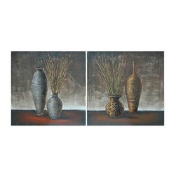 """CVBWF044 36"""" x 36"""" Stretched Canvas Set of 2 - CVBWF044 36"""" x 36"""" Stretched Canvas Set of 2 Hand Painted Dimensional High Gloss Oil Painting . Original $139.95 Now $69.98 36"""" x 36"""" each"""