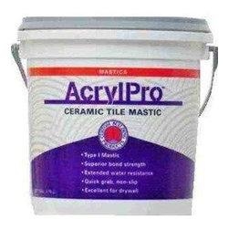 Custom Building Products - Custom Building Products 1 Gallon AcrylPro Ceramic Tile Mastic (2 Pack) - Custom Building Products ARL40001 1 Gallon AcrylPro Ceramic Tile Mastic (2 Pack), White