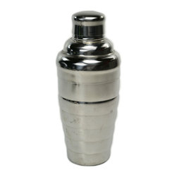 Lavish Shoestring - Consigned Stainless Steel Cocktail Shaker, Vintage English - This is a vintage one-of-a-kind item.