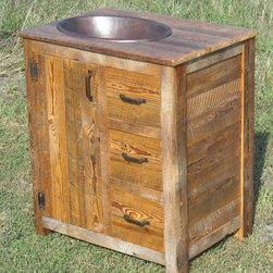 Vanity with Sunken Copper Sink - Jeffrey Burke