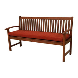 Blazing Needles - Blazing Needles 63 x 19 in. Outdoor All Weather UV Resistant 3-Seater Bench Cush - Shop for Cushions and Pads from Hayneedle.com! Dress your outdoor living space in style with the Blazing Needles 63 x 19 in. Outdoor All Weather UV Resistant 3-Seater Bench Cushion. A perfect fit for your large three-seater bench this cushion adds color and comfort. It's crafted of a smart outdoor fabric that resists fading and is waterproof. A thick Dacron insert offers maximum comfort and comes in a variety of patterns and colors. Handy matching ties keep it securely in place.About Blazing NeedlesBlazing Needles L.P. specializes in the manufacture of cushions pillows and futons. As a sister company of International Caravan Inc. Blazing Needles provides a wide variety of cushions to fit the frames and furniture pieces made by International Caravan. In particular Blazing Needles' production of papasan cushions occupies a unique niche within their industry and sets them apart as a prime supplier for certain retailers. Other services they provide include contract filling sewing and import sourcing. The headquarters of International Caravan and Blazing Needles is located in Fort Worth Texas.