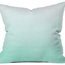 DENY Designs - Social Proper Mint Ombre Throw Pillow - Wanna transform a serious room into a fun, inviting space? Looking to complete a room full of solids with a unique print? Need to add a pop of color to your dull, lackluster space? Accomplish all of the above with one simple, yet powerful home accessory we like to call the DENY throw pillow collection! Custom printed in the USA for every order.