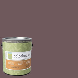 Inspired Flat Interior Paint, Wood .05, Gallon - Colorhouse paints are zero VOC, low-odor, Green Wise Gold certified and have superior coverage and durability. Our artist-crafted colors are designed to be easy backdrops for living. Colorhouse paints are 100% acrylic with no VOCs (volatile organic compounds), no toxic fumes/HAPs-free, no reproductive toxins, and no chemical solvents.