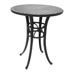 """Pastel Furniture - Pastel Magnolia Pub Table With 42"""" Round Cast Aluminum Top - This outdoor Magnolia Pub Table with 42"""" round cast aluminum top and 42"""" height comes with an intricate iron base design. Perfectly paired with Pastel's outdoor barstool collection (BP 233 BS 010 IF 233 MA 233 and WT 233) this beautifully made table will add style and beauty to your outdoor pub area."""