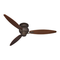 "Casa Vieja - Contemporary 60"" Spyder Bronze Rounded Walnut Blades Hugger Ceiling Fan - Clean and trim and a perfect match for a wide range of décor styles this Casa Vieja® hugger ceiling fan features a Casa Optima motor that will provide years of trouble-free use. Oil rubbed bronze motor finish with three rounded walnut wood blades. 3-speed reversible operation. Hugger flushmount ceiling fan. Oil-rubbed bronze motor finish. Three walnut wood rounded blades. 3-speed reversible motor. 60"" blade span. 14 degree blade pitch.  Hugger flushmount ceiling fan.   Oil rubbed bronze motor finish.   3 rounded walnut finish blades.   3-speed reversible motor.   60"" blade span.  14 degree blade pitch.   8"" high ceiling to blade.   11 1/2"" high ceiling to bottom of switch housing."