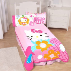 Hello Kitty - Hello Kitty Twin Blanket - Your daughter will love this super cute and cozy Hello Kitty blanket, made with luxuriously soft microraschel fabric. It's a great piece to make the Hello Kitty comforter set come together, and works standalone as a delightful accent.