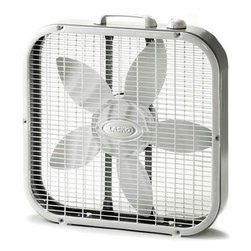 "Lasko Products - Box Fan 3-speed 20"" - Smart, simple and energy-efficient, this classic box fan keeps you cool when the heat is on. It boasts rugged yet lightweight steel construction and three whisper-quiet speeds for ample air movement."