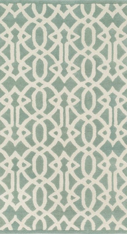 """Loloi Rugs - Loloi Rugs Brighton Collection - Mist, 7'-10"""" x 11'-0"""" - There are geometric rugs and then there is the striking Brighton Collection, which sets a new standard for geometric style. Hand-tufted in India, 100% wool yarns are hand-dipped into rich dye lots, producing lively colors that pair fabulously with its playful patterns. Brighton also combines a cut and loop pile, creating a mix of heights and textures for added visual interest. Available in 12 playful designs."""