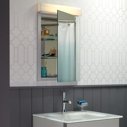 """Robern - 25"""" W White Glass Vanity Top with Integrated Sink - TS25UCN21-1"""