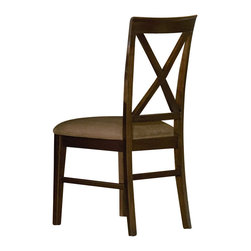 Atlantic Furniture - Atlantic Furniture Lexington Side Chair in Antique Walnut (Set of 2)-Cappuccino - Atlantic Furniture - Dining Chairs - AD772134 - The Atlantic Furniture Lexington Dining Side Chairs are constructed from Eco-friendly solid hardwood and have an elegant Antique Walnut wood finish. This set of two dining side chairs feature a cross back design and a Cappuccino or an Oatmeal colored seat cushion. The Lexington Dining Side Chairs are perfect for a casual dining room setting.