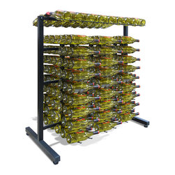 Vinotemp - Epicureanist Island Display Rack with 6 Epicureanist 3 Deep Wire Racking - Put your best bottles on display with the Epicureanist Island Display Rack! This freestanding metal wine rack comes with all of the tools needed for assembly and can be put together or taken down with ease, making it the ideal wine storage solution for any space! Top racking accommodates 18 standard wine bottles. Select 1 deep (EP-WIRE1B), 2 deep (EP-WIRE2B), or 3 deep (EP-WIRE3B). Epicureanist wire racking to install on the base and expand your storage up to 180 bottles!