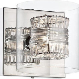 "Wrapped Wire 5 1/8"" High 1-Light Wall Sconce - This wrapped wire sconce has a punchy, modern edge."