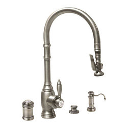 Waterstone - Waterstone Pulldown Kitchen Faucet with Soap Dispenser - Pulldown Kitchen Faucet with Soap Dispenser, Air Switch and Single Port Airgap