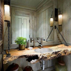 Eclectic Bathroom by Visions by Bobette
