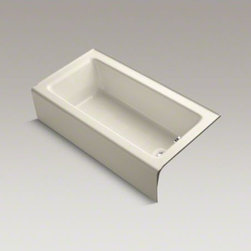 """KOHLER - KOHLER Bellwether(R) 60"""" x 32"""" alcove bath with integral apron and right-hand dr - The updated, clean lines of the Bellwether Bath coordinate with a variety of products. Made of KOHLER(R) Cast Iron, it incorporates an integral apron and 3-sided flange for ease of installation."""