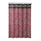 "Shower Curtain- Madeira Embossed Microfiber - 70""x 72"" - Madeira Embossed Microfiber Shower Curtain- 70""x 72"""