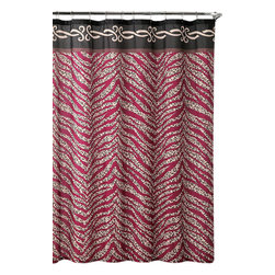"Shower Curtain- Madeira Embossed Microfiber - 70""x 72"" - Madeira Embossed Microfiber Shower Curtain- 70""x 72"""