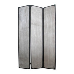 Screen Gems - Screen Gems Industrial Screen - Three Panels - This is a 3 panel industrial style screen. The rustic distressed finish features metal accents for a unique look that's sure to bump your style up a notch.