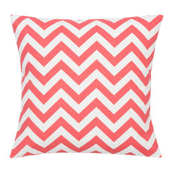 Look Here Jane, LLC - Chevron Coral Pillow Cover - PILLOW COVER