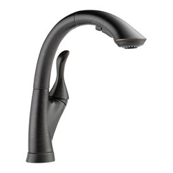 Delta Single Handle Water-Efficient Pull-Out Kitchen Faucet - 4153-RB-DST - The design was inspired by a strong presence in nature like that of tree with reaching branches.