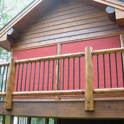 Exterior Screen Porch Shades - Weather Queen Exterior Screen Porch shades protect the porch and furnishings.