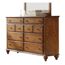 Broyhill - Broyhill Hayden Place 8 Drawer Dresser in Warm Golden Oak - Broyhill - Dressers - 4645230 - About This Product:_�