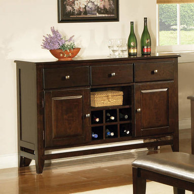 Steve Silver - Victoria Server - A modern classic, the Mango Server yields functional design and solid wood construction. Defined as casually elegant, the mango finish adds depth and character to this truly transitional piece.