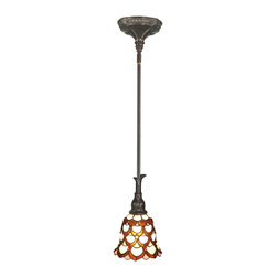 Dale Tiffany - Dale Tiffany TH70119 Peacock 1 Light Mini Pendants in Antique Bronze - This 1 light Mini Pendant from the Peacock collection by Dale Tiffany will enhance your home with a perfect mix of form and function. The features include a Antique Bronze finish applied by experts. This item qualifies for free shipping!