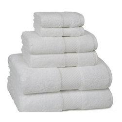 Elegance Bath Towels- White - Elegance Bath Towels- White