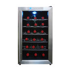 Vinotemp - Vinotemp 18-Bottle Thermoelectric Wine Cooler - Keep your friends close, and your best bottles even closer. This sleek thermoelectric cooler ensures that the stars of your collection will be right where you want them and at their ideal temperature.