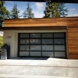 Garage Doors - Glass garage doors.