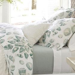 Freeport Shell Organic Duvet Cover And Sham - Organic shell bedding for the bedroom.