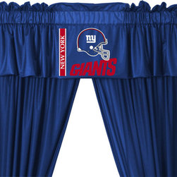 Store51 LLC - NFL New York Giants Football 5pc Valance-Curtains Set - FEATURES: