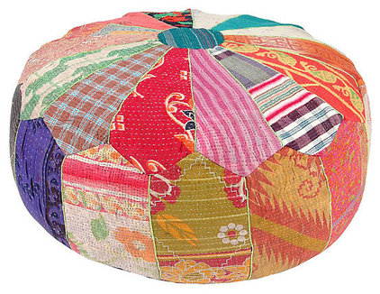 eclectic ottomans and cubes by One Kings Lane