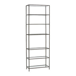 Arteriors - Arteriors 4278 Isaiah Bookshelf - Arteriors 4278 Isaiah Bookshelf made with  Natural Iron/Clear Glass.