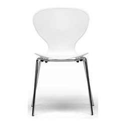 Wholesale Interiors - Baxton Studio Boujan Modern Dining Chair - Set of 2 - Clean, casual and contemporary the curves of the Boujan Dining Chair will captivate you!