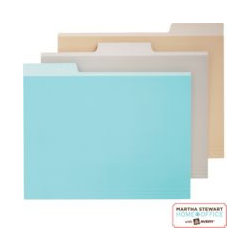 Martha Stewart Home Office™ with Avery™ File Folders - Come up with a system to organize your files. It can be alphabetical, numerical or color coded.