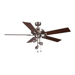 Hampton Bay - Indoor Ceiling Fans: Hampton Bay Irondale 52 in. Brushed Nickel Ceiling Fan CF55 - Shop for Lighting & Fans at The Home Depot. The Hampton Bay Irondale 52 in. Brushed Nickel Ceiling Fan features 5 reversible cherry and maple wood blades that quickly create high airflow to help you maintain a comfortable interior. The fan's spotlight kit features 3 light heads that can be adjusted to direct the light just right. With its modern design and brushed nickel finish, this stylish ceiling fan creates a contemporary look and feel for your home interior.