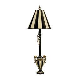Dimond Lighting - Dimond Lighting 91-234 Carnival Stripe Black & White Table Lamp - Dimond Lighting 91-234 Carnival Stripe Antique Black and White Table Lamp