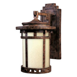 Maxim Lighting - Maxim Lighting Santa Barbara Dark Sky Traditional Outdoor Wall Sconce X-ESOM3413 - Add a touch of rustic elegance to your home with this Maxim Lighting Santa Barbara Dark Sky Traditional Outdoor Wall Sconce. It features a cast aluminum frame in a rich and warm sienna finish that perfectly complements the mocha glass panels. This craftsman/mission style piece easily complements a broad range of architectural styles.