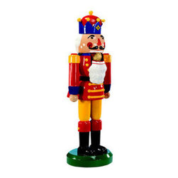 6.3 ft. - Nutcracker Fiberglass - Christmas Decoration - Like the hero in the Nutcracker ballet, this life-sized nutcracker will stand as a sentinel at your home or office this holiday season. With crisp, bright colors, this unique decoration is ideal to stand against a wall or at an entryway. The 6 foot, 3 inch figure is made of fade and chip resistant fiberglass, ensuring a long life. It is suitable for indoor or outdoor use and with proper storage, will last for generations to come. Let this traditional ornament bring a smile to your holiday decorations.
