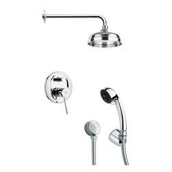 Remer - Sleek Polished Chrome Shower System - Multi function shower faucet.
