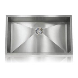 Lenova - Lenova Pc-Ss-Ori-S1 Undermount Single Bowl Kitchen Sink Stainless Steel - The Lenova SS-CL-S1 18-Gauge Classic Single-Bowl Undermount Kitchen Sink, Large has overall sink dimensions of 30-1/4-Inch by 18-1/4-Inch and bowl dimensions of 28-Inch by 16-Inch by 11-Inch. The name Lenova is born from a love of space and stars where the universe is truly unlimited. In this boundless spirit we present a line of new and timeless designs for kitchen and bath sinks. The classic collection offers a complete line of quality traditional undermount sinks. Premium type 304 18-Gauge stainless steel with a scratch-resistant silk finish plus our 5-side sound baffling. The classic undermount sinks offer a full range of options for any project. Covered by Lenova's Limited Lifetime Warranty: Lenova Sinkware warrants all of its stainless steel sinks to be free of all manufacturing and material defects under normal use by the original owner.